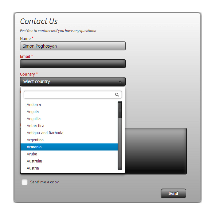 Creative Contact Form • Wordpress Contact Form