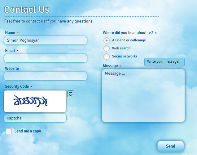 Creative Contact Form • Joomla Contact Form